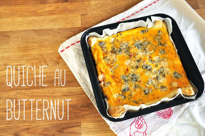 Quiche à la courge butternut
