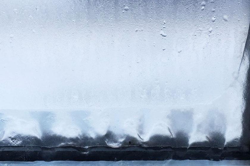 Fenêtre gelée
