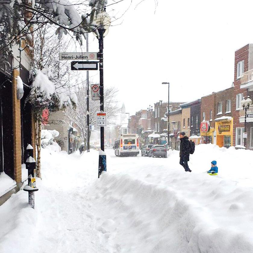 Tempête de neige à Montréal