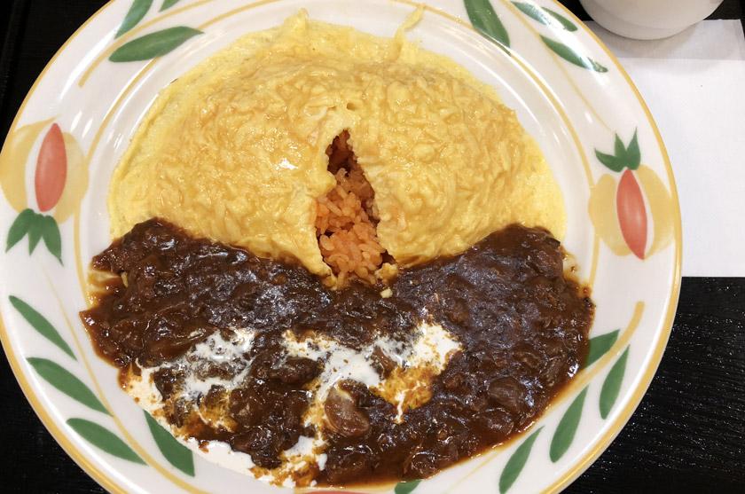 Omelette farcie japonaise