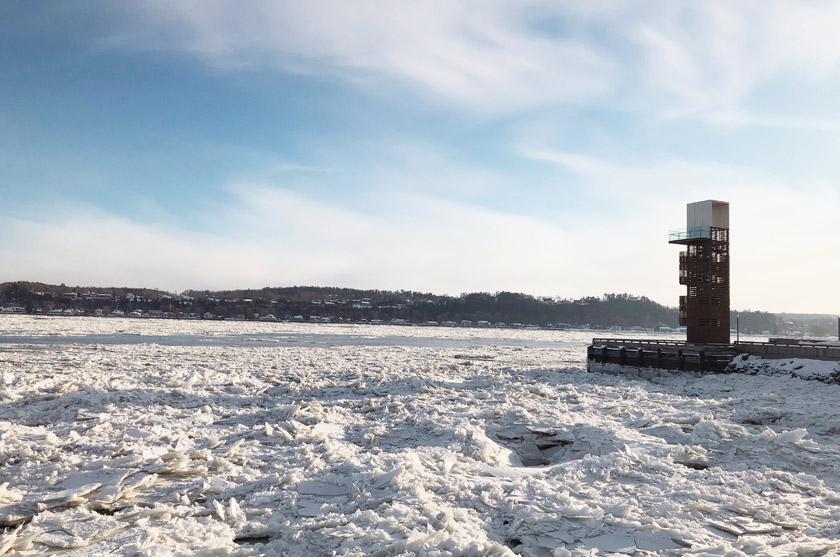 Fleuve Saint-Laurent gelé