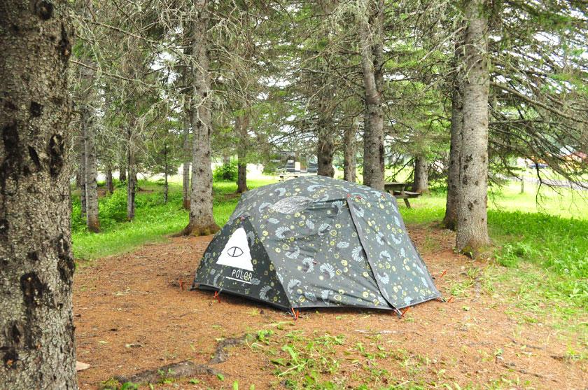Camping à la Réserve faunique de Matane