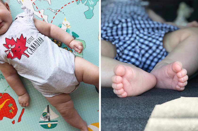 Nina à 4 mois